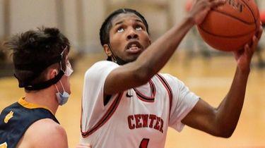 CJ Brackett of Center Moriches looks to shoot