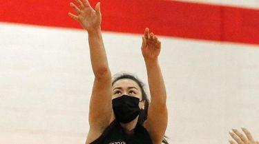 Kings Park guard Nicole Bianco hits the jump