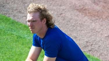 Mets pitcher Sam McWilliams during a spring training