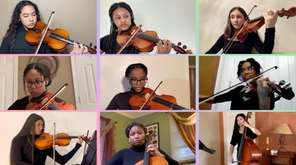 Students from the Baldwin High School Orchestra put