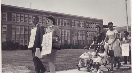 A demonstration for the desegregation of the Malverne