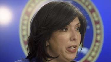Nassau County District Attorney Madeline Singas, above in