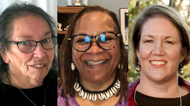 From left, Marie McNair of the Regional Baha'i