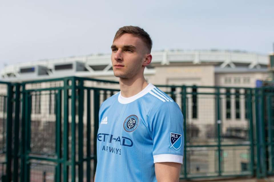 NYCFC's James Sands models the club's new home