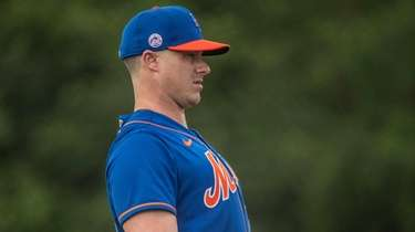 Mets catcher James McCann during a spring training