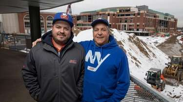 Mark Worhle, right, and his son Chris Worhle,