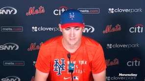 Mets pitcher Seth Lugo spoke with members of