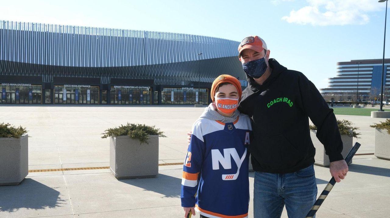 Brad Shafran and his son, Max, are Islanders