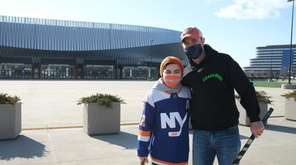 Brad Shafran and his son, Max, are Islanders
