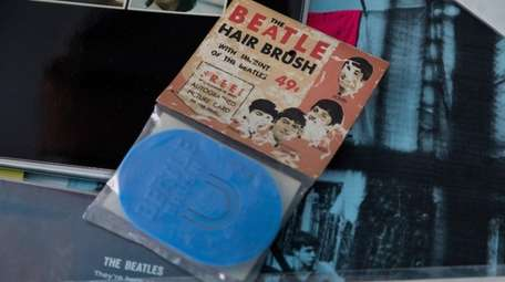 Quirky items, like a Beatles hair brush, are