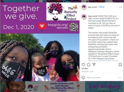 Butterfly Effect Project uses its Instagram page to