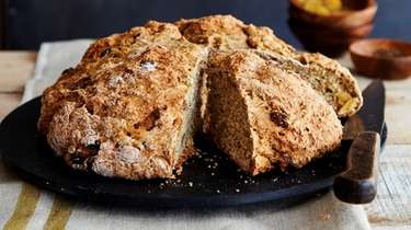 Irish soda bread made with a combination of