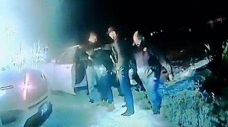 Still frame taken of police body camera footage