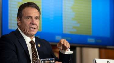 Gov. Cuomo provides a coronavirus update during a
