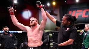 Jan Blachowicz of Poland celebrates after his victory