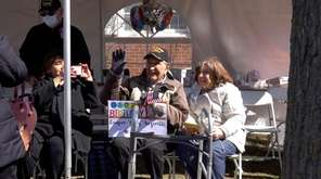 WWII U.S. Army veteran Gary Inzerillo was treated