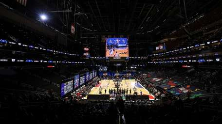 A general view of State Farm Arena prior