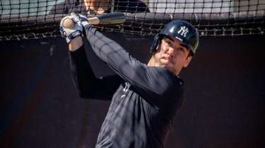 New York Yankees' infielder Tyler Wade at batting