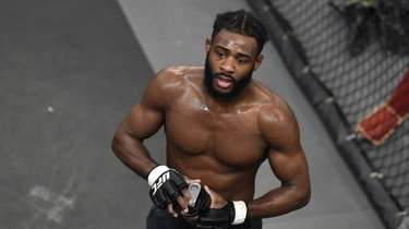 Aljamain Sterling trains at Longo-Weidman MMA in Garden