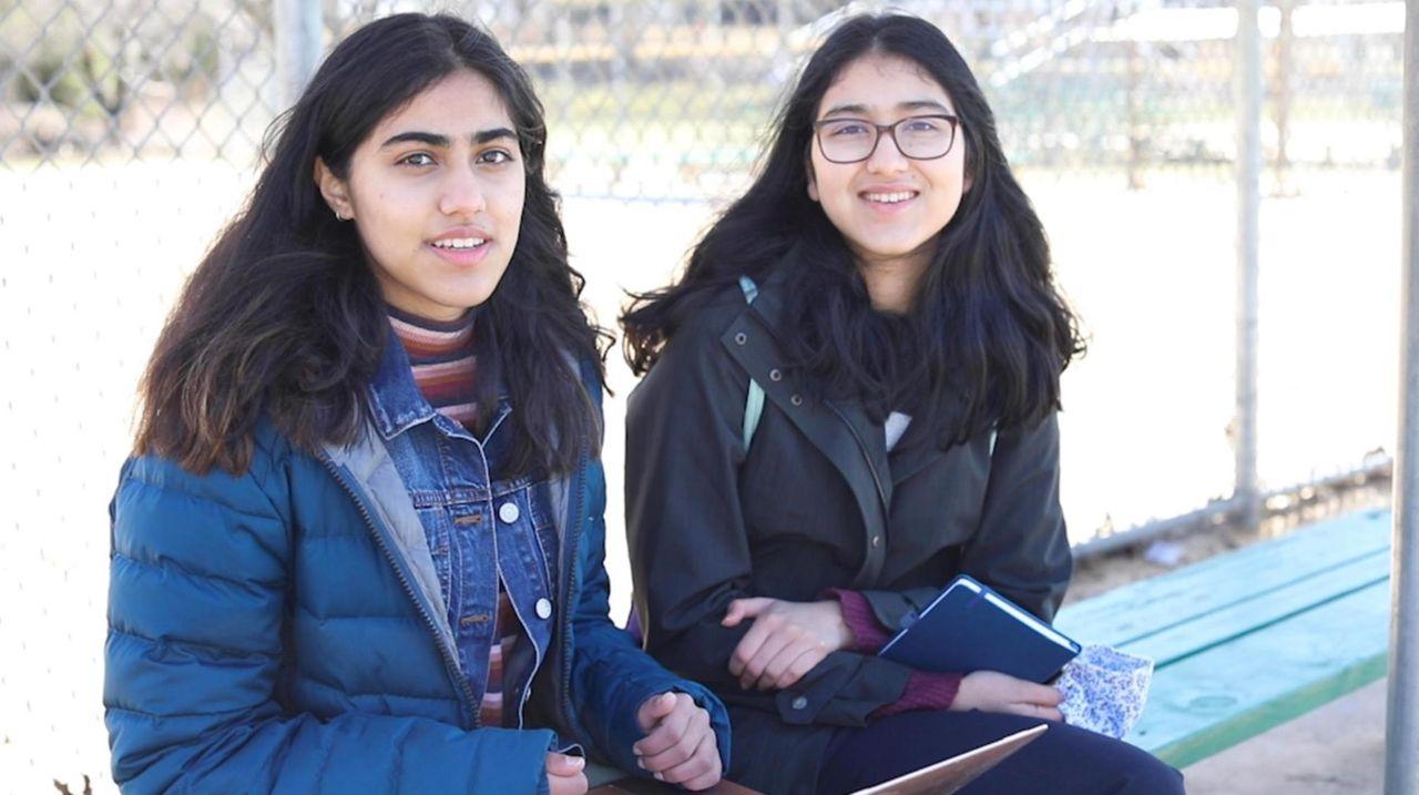 Sneha Singhi and Sanjana Lodha, both Herricks High