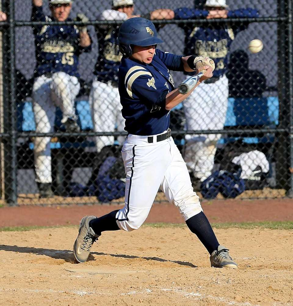 Bayport-Blue Point's Sal Geraci connects for a single