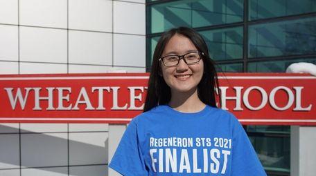Lucy Zha, one of LI's two Regeneron finalists.