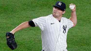 Zack Britton of the Yankees pitches during the