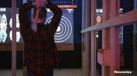 NY Axe, an axe-throwing range with digital targets,