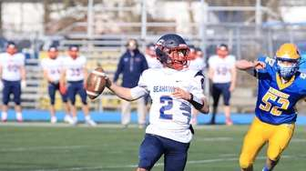 Cold Spring Harbor QB #2 Nicholas Visconti led