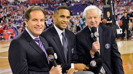 From left, CBS Sports lead NCAA play-by-play announcer