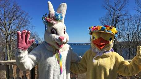 "The ""Easter Bunny"" and ""Chick"" will be at"