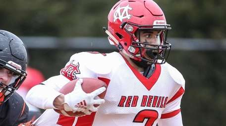 Center Moriches' Judah Williams gets caught from behind