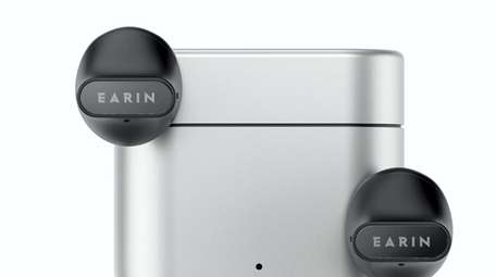 Earin A-3 earbud is charged with the included