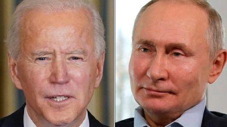 President Joe Biden and Russia's Vladimir Putin.