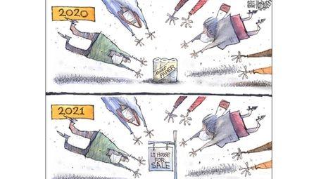 Matt Davies' latest political cartoon.