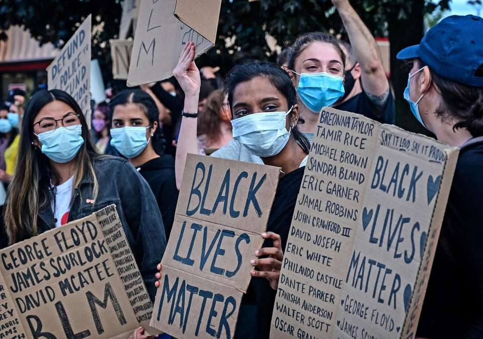 Protestors and allies of the Black Lives Matter