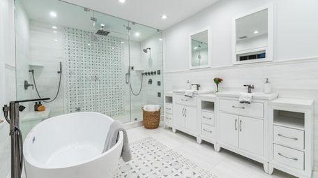 A bathroom in the house
