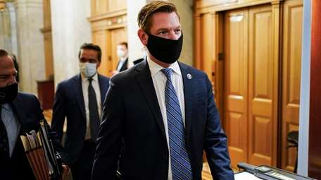 Rep. Eric Swalwell, D-Calif., at the Capitol in