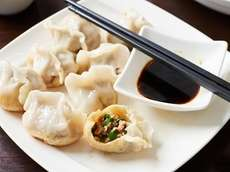 Find Chinese food options like pork and chive