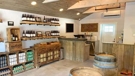 The tasting room at the Abandoned Hard Cider