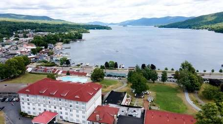 A aerial view of picturesque Fort William Henry