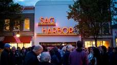 The newly installed Sag Harbor Cinema sign is