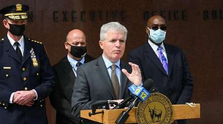 Suffolk County Executive Steve Bellone announces the opening