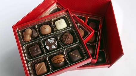 Locally made chocolates from Bon Bons Chocolatier.