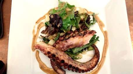 Grilled octopus with a hazelnut vinaigrette at Bar