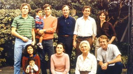 A Bush family portrait: Clockwise from top left,