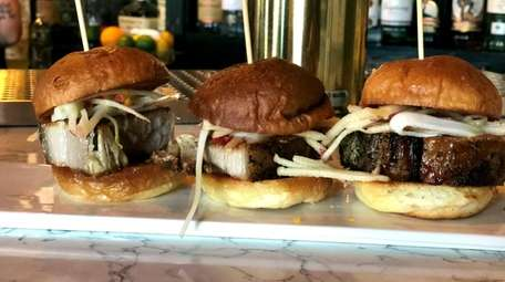 Pork-belly sliders at The Watershed Kitchen + Bar,