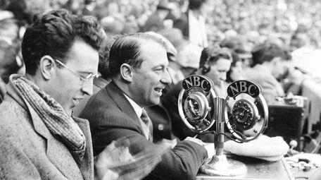 NBC Radio broadcasters George Hicks, left, and Graham
