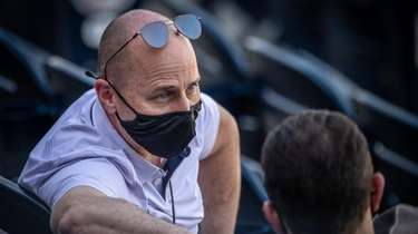 Yankees GM Brian Cashman during spring training at