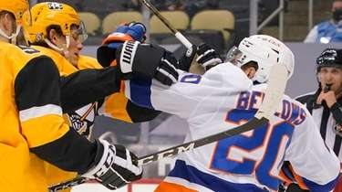 The Islanders' Kieffer Bellows and the Penguins' Sam